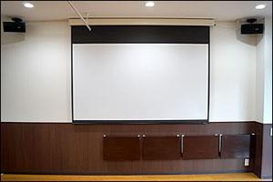 プロジェクタースクリーンの写真